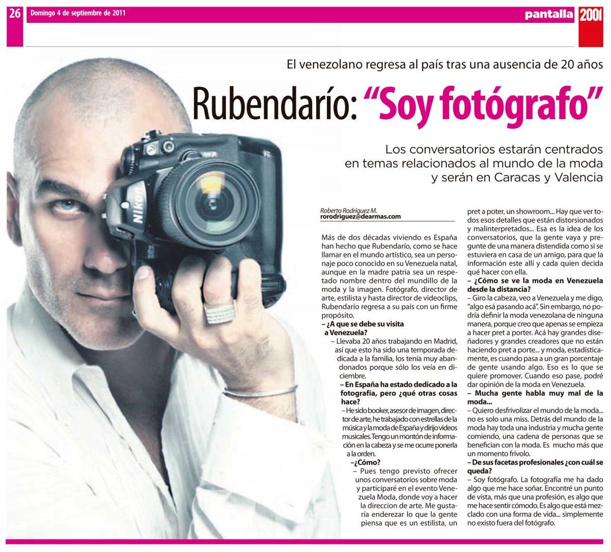 2001 entrevista Rubendario